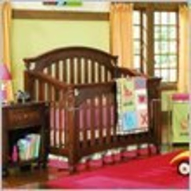 Lea My Style Baby Convertible Wood Crib in Cherry