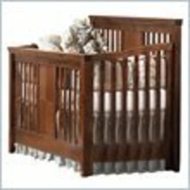 Natart Theo Crib-to-Double Convertible Wood Crib