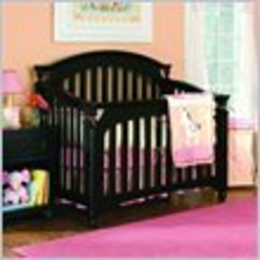Lea My Style Baby Convertible Wood Crib in Black