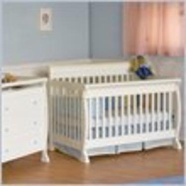DaVinci Kalani 4-in-1 Convertible Wood Baby Crib Nursery Set in White