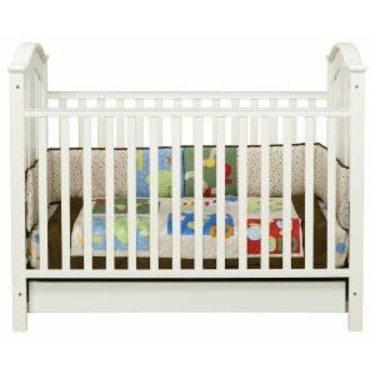 Roxanne 3-in-1 Convertible Crib in Antique White