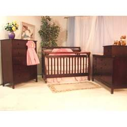 AFG Baby Furniture 4589AC Amy 3-in-1 Crib - Cherry
