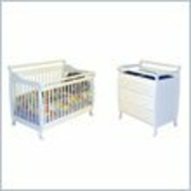 Dream On Me Liberty 4-in-1 Convertible Wood Crib Set in White