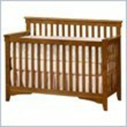 Child Craft Rose Valley Lifetime 4-in-1 Convertible Crib in Abby Oak Finish
