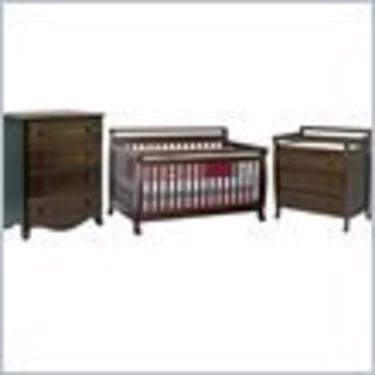 DaVinci Emily 4-in-1 Wood Baby Crib Set in Espresso