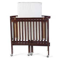 Foundations 60-SS-C2 Travel Sleeper Compact Drop-Side Folding Crib - Cherry