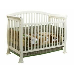 Thompson Baby Crib Set in Pearl White