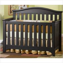 Child Craft Hawthorne Lifetime 4-in-1 Convertible Wood Crib in Espresso Pine