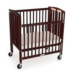 Foundations 60SSC3 Travel Sleeper Compact Drop-Side Folding Crib - Cherry