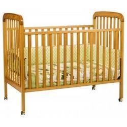 Alpha 3-in-1 Convertible Crib in Honey Oak