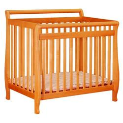 Athena Mini Amy Crib in Pecan