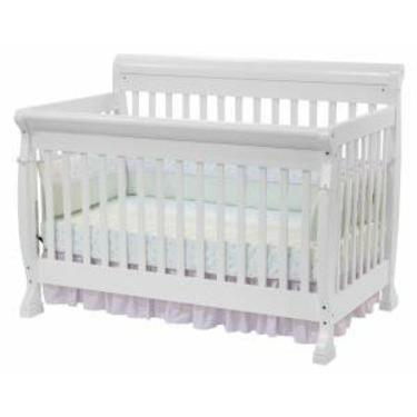 Kalani Baby Crib Set in White