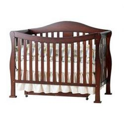 Parker Baby Crib Set in Coffee