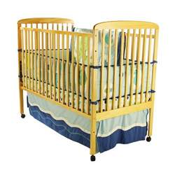 Dream On Me Bethany 2 in 1 Convertible Stationary Side Crib, Natural