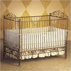 Bratt Decor CA01 - GOL Casablanca Premiere Convertible Crib in Burnished Gold