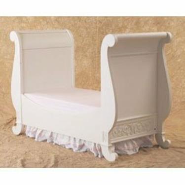 Chelsea Sleigh Crib in White