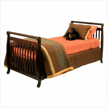 DaVinci M4798Q Emily Mini 2-in-1 Convertible Crib in Espresso