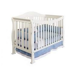 Parker Baby Crib Set in Pearl White