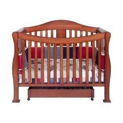 Parker Baby Crib Set in Cherry