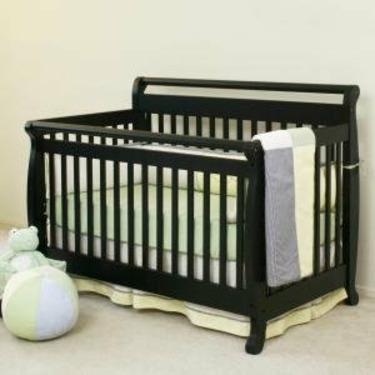 Emily Baby Crib Set in Ebony