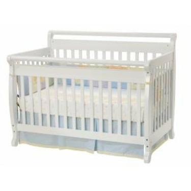 Emily Baby Crib Set in White