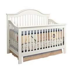 Jayden Baby Crib Set in Antique White