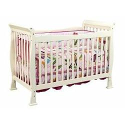 Reagan Baby Crib Set in Pearl White