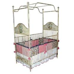 HANDPAINTED CANOPY CRIB