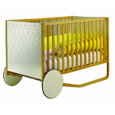 Tulip Lola Standard Wood Crib in Two-tone White and Natural Finish