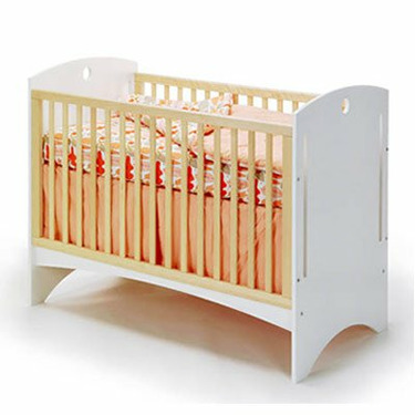 Offi Bebe 2 Crib with White Ply
