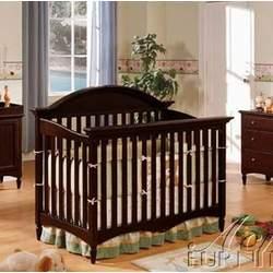 Convertible Baby Crib Espresso Finish