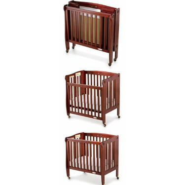Foundations Royale Folding Drop Side Crib Compact Size