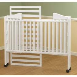 Orbelle Lisa Three Level Standard Full Size Wood Crib in White