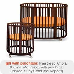 Stokke Sleepi Crib & Bassinet Set - Walnut