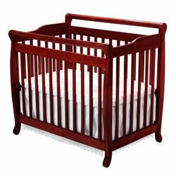 Emily Convertible Mini Crib in Cherry