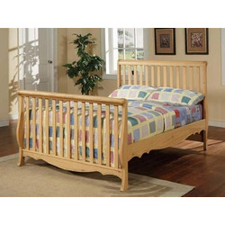 Convertible Baby Crib Maple Finish