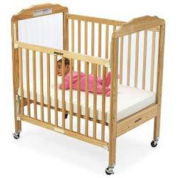 Angeles EL7050 Dropside Compact Crib-Clear View