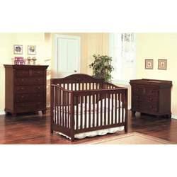 Convertible Baby Crib Cherry Finish