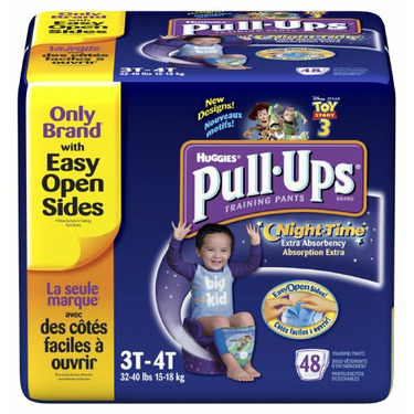 Huggies Pull-Ups Training Pants, Nighttime, Boys, 3T-4T, 48-Count