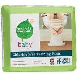 Seventh Generation Training Pants, 2t-3t, (26-34 Lbs), 29-Count Packages  (Pack of 4) (116 Training Pants) [Amazon Frustration-Free Packaging]