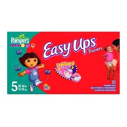 Pampers Easy Ups for Girls, Size 5, 80-Count