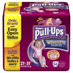 Huggies Pull-Ups Training Pants, Nighttime, Girls, 2T-3T, 54-Count