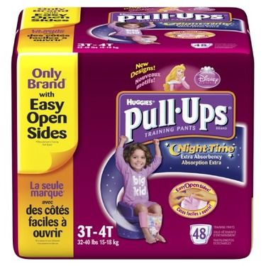 Huggies Pull-Ups Training Pants, Nighttime, Girls, 3T-4T, 48-Count