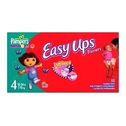 Pampers Easy Ups Trainers For Girls, Size 4, 88-Count