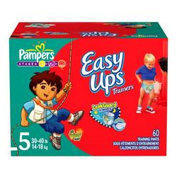 Pampers Easy Ups for Boys (Big Pack), Size 5, 60-Count
