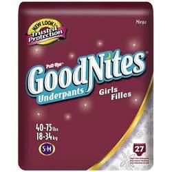 Huggies GoodNites Underpants, Girls, Small/Medium, 27-count