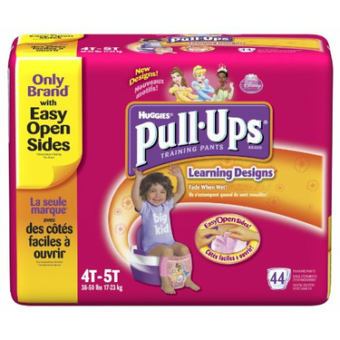 Huggies Pull-Ups Training Pants with Learning Designs, Girls, 4T-5T, 44-Count