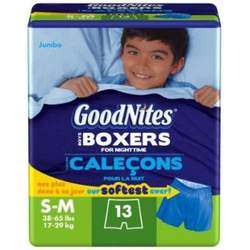 Huggies GoodNites Boxers, Boys, Small/Medium, 13-Count (Pack of 4)