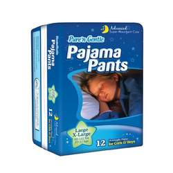 Pure 'n Gentle Youth Pajama Pants for Boys & Girls, 48-Count, Large/X-Large, 60-125 Pounds