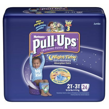 Huggies Pull-Ups Night Time Training Pants for Boys 2T-3T, 24-Count